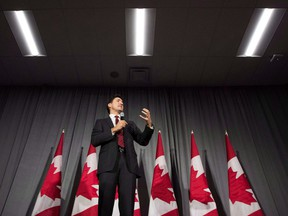 Prime Minister Justin Trudeau speaks during a Liberal fundraising event at St. Lawrence College in Kingston, Ont., on Wednesday, Dec. 19, 2018.