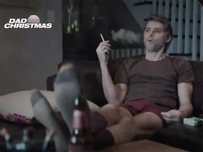 "A scene from the Saturday Night Live skit ""Dad Christmas"" is seen in a still from a video."