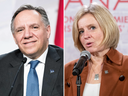 Equalization have not or have? Quebec Premier François Legault and Alberta Premier Rachel Notley at the First Ministers conference on Dec. 7, 2018 in Montreal.