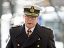 Vice Admiral Mark Norman arrives to the Ottawa Courthouse in Ottawa on Dec. 12, 2018.