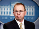 Director of the Office of Management and Budget Mick Mulvaney during a press briefing at the White House, Jan. 20, 2018.