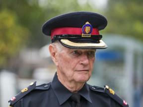 Toronto Police 23 Division Unit Commander Supt. Ron Taverner speaks to media at the scene of a shooting on Tandridge Cres., near Albion Rd on in Toronto, Ont.  Tuesday September 25, 2018.