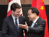 Prime Minister Justin Trudeau meets with Chinese Premier Li Keqiang in Singapore on Nov. 14, 2018.