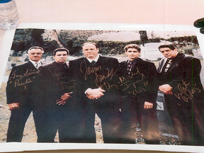 Police investigating an alleged Mafia branch in Hamilton, Ont., found an autographed photo of the cast of The Sopranos, the popular Mafia television series.