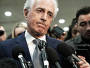 U.S Sen. Bob Corker, R-TN, speaks to reporters after a closed door briefing by CIA Director Gina Haspel to members of Senate Foreign Relations Committee, Dec. 4, 2018.