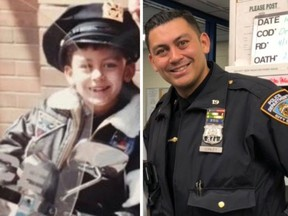 A New York City police officer's submission to the 10 Year Challenge.