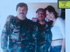 """Alex Cifuentes-Villa, middle, pictured with """"El Chapo"""" Guzman and an unidentified woman in the mountains of Mexico."""
