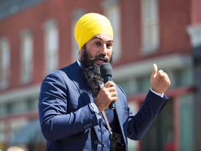 NDP Leader Jagmeet Singh announces he will run in a byelection in Burnaby South, during an event in Burnaby, B.C., on Aug. 8, 2018.