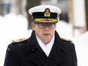Vice-Admiral Mark Norman arrives at the courthouse in Ottawa, Jan. 29, 2019.