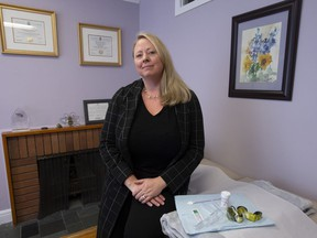 Colleen McQuarrie, naturopathic doctor and chair of the board of governors of the Canadian College of Naturopathic Medicine, poses in her office in Ottawa, Tuesday, February 5, 2019. Naturopathic clinics in Ontario offering Pap smears say their pampered approach to the medical procedure helps put patients at ease.