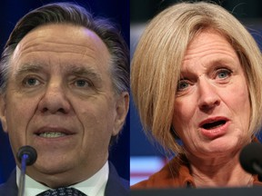 The premiers of Quebec and Alberta, François Legault and Rachel Notley.