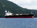 An oil tanker off the coast of B.C. in 2010.