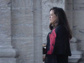 Jodie Wilson-Raybould addresses the media following a swearing in ceremony at Rideau Hall in Ottawa on Monday, Jan. 14, 2019.