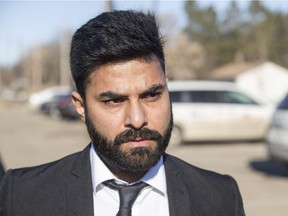 Jaskirat Singh Sidhu, the driver of a transport truck involved in the Humboldt Broncos bus crash, enters the Kerry Vickar Centre in Melfort on March 22, 2019, where was sentenced for his role in the collision.