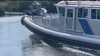 The closest NBC-2 was able to get to the Canadian prime minister. Trudeau is reportedly visible through the windows of this U.S. Customs and Border Protection vessel.