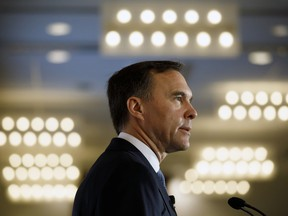 Canadian finance minister Bill Morneau speaks about the 2019 Federal Budget during a breakfast hosted by the Toronto Region Board of Trade, The Empire Club and Canadian Club of Toronto, in Toronto, Wednesday.