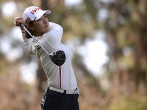 Chella Choi, of South Korea, plays her shot from the 12th tee during the first round of the Kia Classic LPGA golf tournament, Thursday, March 28, 2019, in Carlsbad, Calif.
