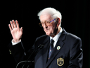 Sports writer Dan Jenkins receives a lifetime achievement award during the World Golf Hall of Fame inductions in St. Augustine, Florida, on May 2, 2012.