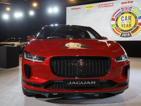 "The Jaguar I-Pace model was elected ""Car of the Year 2019"", ahead of the 89th Geneva International Motor Show, at the Palexpo, in Geneva, Switzerland, on Monday, March 4, 2019."