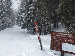 Park officials said Thursday, March 28, 2019, the area surrounding Glacier Point Road will remain open for winter recreational use through April 14. (National Park Service via AP)