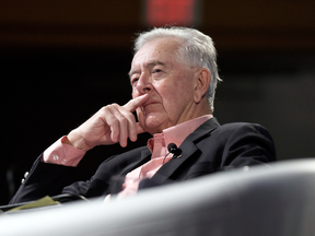 Preston Manning listens during the Manning Networking Conference in Ottawa on March 22, 2019.