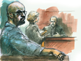 Shareef Abdelhaleem watches as a Crown attorney questions a witness during a Toronto 18 trial in 2010.