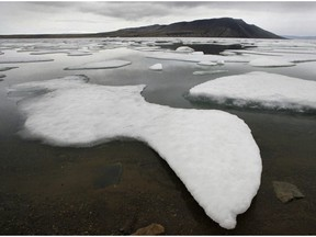 Ice floats in Slidre Fjord outside the Eureka Weather Station on Ellesmere Island, Nunavut, Monday, July 24, 2006. Canada's largest program of Arctic research is receiving more than $32 million over the next five years.