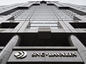 The headquarters of SNC Lavalin is seen Thursday, November 6, 2014 in Montreal. SNC-Lavalin, the company at the centre of a national political storm, underscores what it calls new and troubling facts in a fresh court bid for a special agreement to avoid prosecution on corruption charges.