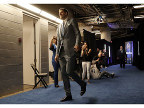 Dallas Mavericks forward Dirk Nowitzki arrives for the team's NBA basketball game against the Phoenix Suns in Dallas, Tuesday, March 9, 2019.