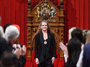Julie Payette is applauded during her installation ceremony as Canada's 29th Governor General on Oct. 2, 2017.