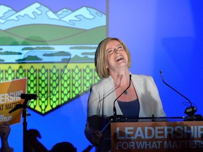 In this 2015 photo, Rachel Notley laughs soon after learning she will be Alberta's next premier.