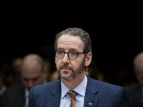 Gerald Butts, former principal secretary to Prime Minister Justin Trudeau, prepares to appear before the Standing Committee on Justice and Human Rights regarding the SNC Lavalin Affair, on Parliament Hill in Ottawa on Wednesday, March 6, 2019.