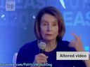 U.S. House Speaker Nancy Pelosi speaks at a Center for American Progress event. A C-SPAN video was doctored to suggest she was slurring her words and shared on social media on May 24, 2019.