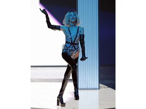 """Tamta of Cyprus performs the song """"Replay"""" during the 2019 Eurovision Song Contest grand final in Tel Aviv, Israel, Saturday, May 18, 2019."""