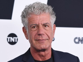 In this file photo taken on May 17, 2017 Anthony Bourdain attends the Turner Upfront 2017 at The Theater at Madison Square Garden in New York City.