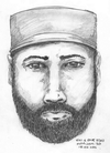 A composite sketch of a man police are seeking who was seen talking to Chynna Deese and Lucas Fowler.