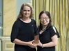 Xiangguo Qiu is presented a 2018 Governor General's Innovation Award by Governor General Julie Payette for her work creating the Ebola drug Zmapp.