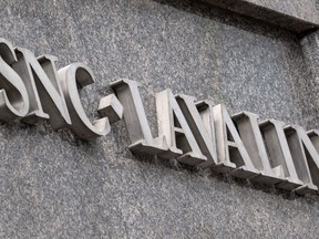 The SNC-Lavalin headquarters is seen in Montreal on February 12, 2019. SNC-Lavalin's court fight for a special agreement to avoid prosecution on corruption charges is lurching along despite the prospect of a criminal trial and an ethics watchdog's report criticizing the prime minister's actions on the file.
