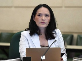 NDP immigration critic Jenny Kwan prepares for an emergency meeting of the Citizenship and Immigration Committee on Parliament Hill in Ottawa on Monday, July 16, 2018. Kwan says she is dismayed by newly published guidelines for asylum seekers who fall under a controversial new admissibility law ??? guidelines she believes show some refugees will not get a fair chance to plead their case for protection in Canada.