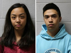 Jamie Montesa and Brayan Cortez face face misdemeanour charges after allegedy taunting a 91-year-old dementia patient on a video posted to social media.