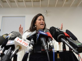 Jody Wilson-Raybould holds a news conference to discuss her political future in Vancouver, Monday, May 27, 2019.