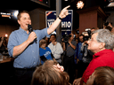 Conservative Leader Andrew Scheer campaigns in London, Ont., on Sept. 24, 2019.