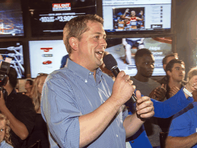 Conservative Party Leader Andrew Scheer speaks at a campaign rally  in London, Ont. on Sept. 24, 2019.
