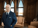 Former prime minister Brian Mulroney visits a replica of his Parliament Hill office, which is part of the Mulroney Hall school of government on the campus of St. Francis Xavier University in Antigonish, N.S.