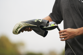 The Callaway driver-fitting process begins with a baseline test of a golfer's current driver to compare how much better Callaway's new gear is.