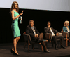 Fringe candidate Faith Goldy crashes a Toronto mayoral debate in Sept. 2018.