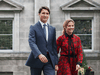 Prime Minister Justin Trudeau and his wife Sophie Gregorie arrive at Rideau Hall in Ottawa on Sept. 11, 2019.