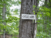 A sign indicates the location of the cottage owned by businessman and television personality Kevin O'Leary on Lake Joseph.
