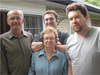 John Thompson with wife Janice and sons Graham and Greg.