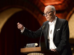 The 2014 Nobel Literature laureate France's Patrick Modiano, addresses the traditional Nobel Prize banquet at the Stockholm City Hall on December 10, 2014 following the Nobel Prize award ceremonies for Medicine, Physics, Chemistry, Literature and Economic Sciences.